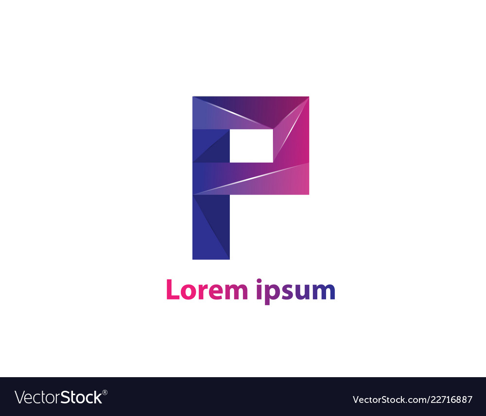 P letter logo icon colorful abstract