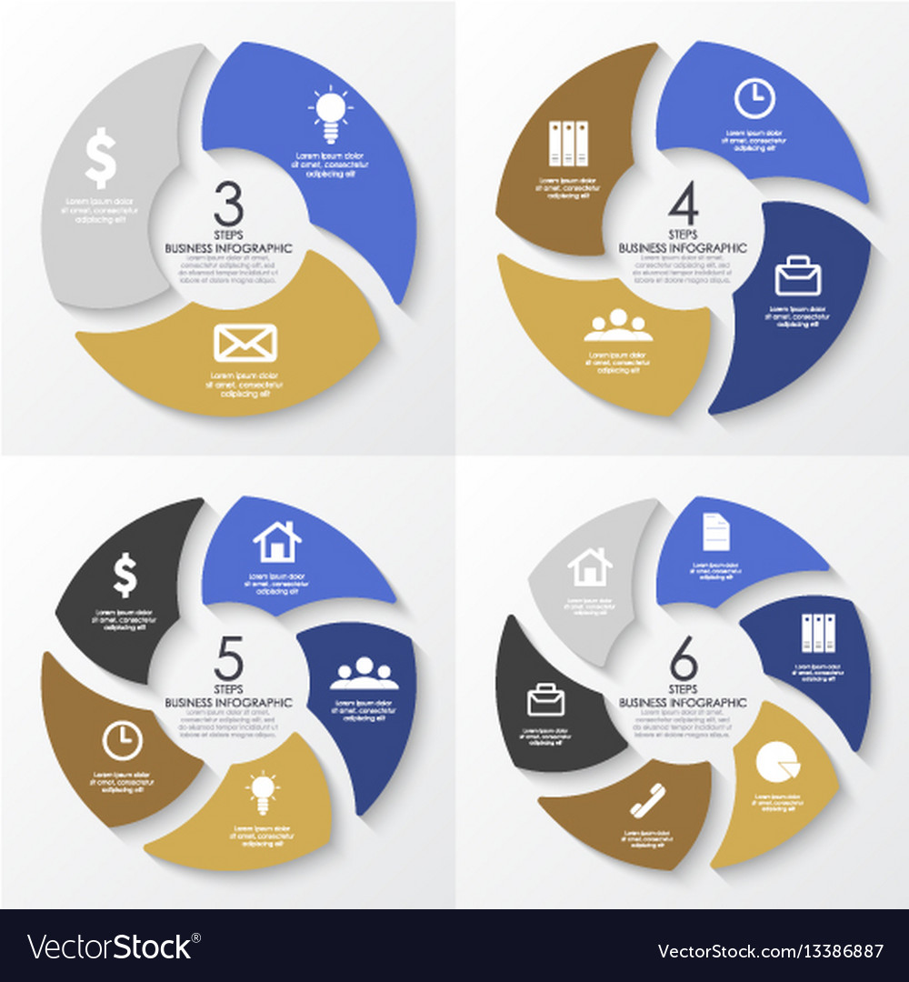 Round infographics template for diagram