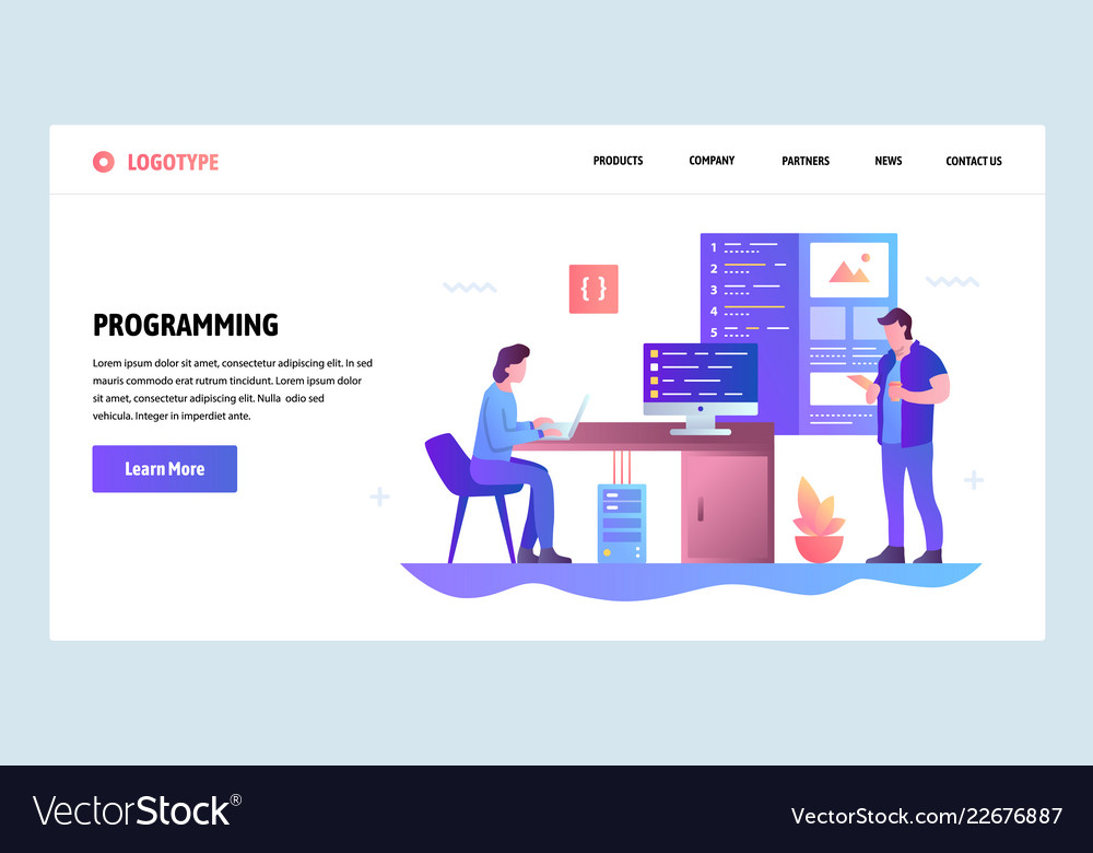 Web site gradient design template coding