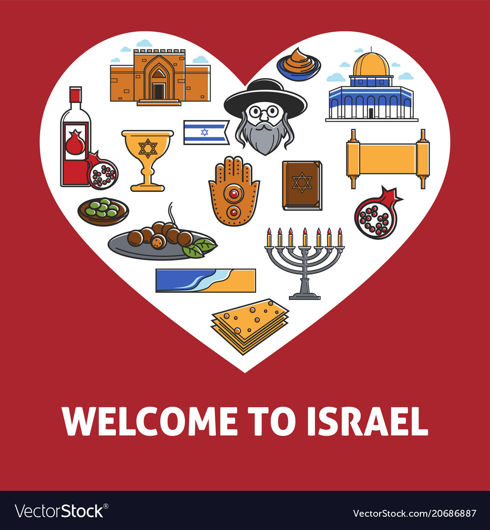 Welcome to israel promo banner with country