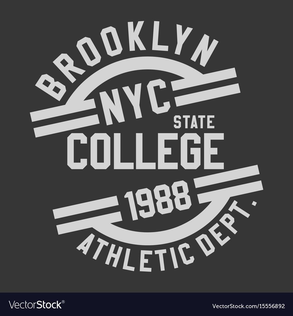 Brooklyn nyc college vector image