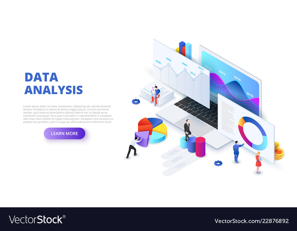 Data analysis design concept with people and