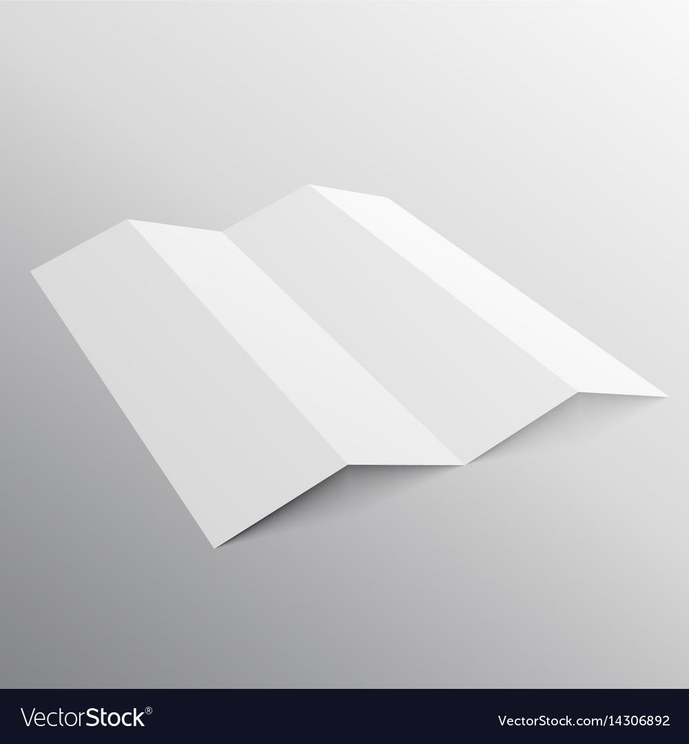 Five fold presentation mockup template royalty free vector five fold presentation mockup template vector image maxwellsz
