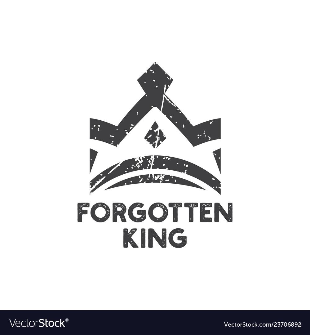 Forgotten king logo icon design template