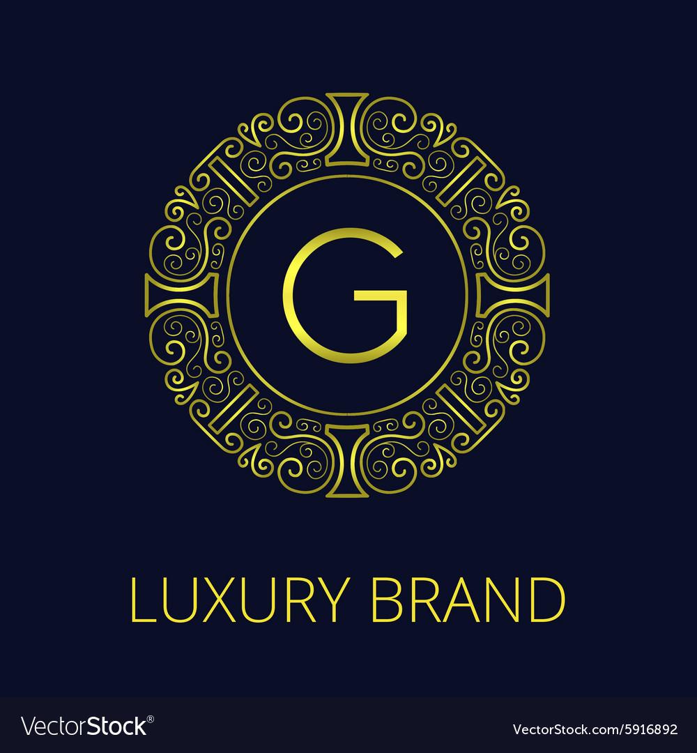 Luxury Vintage Frame Monogram G