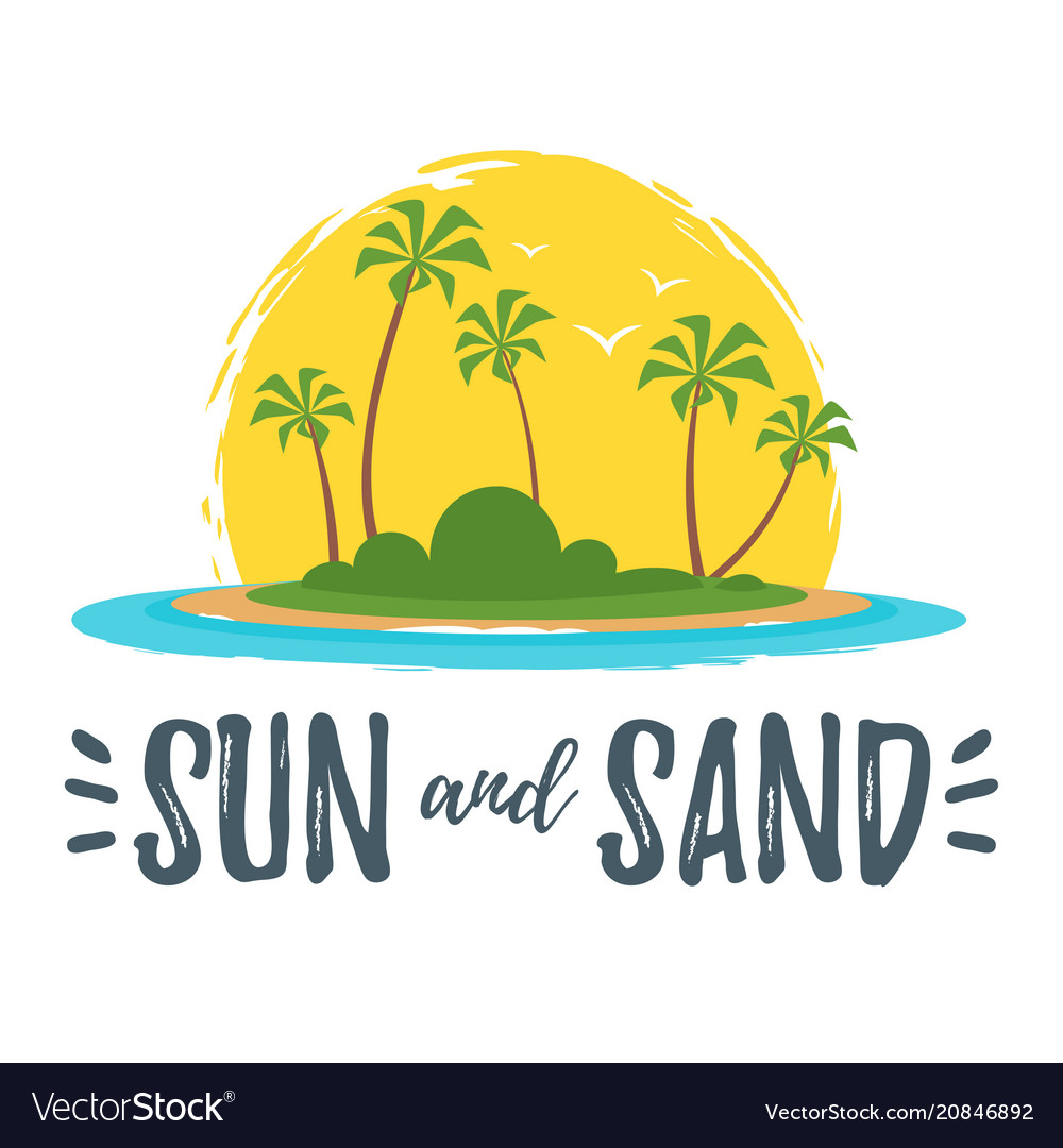 Summer design for season postcard