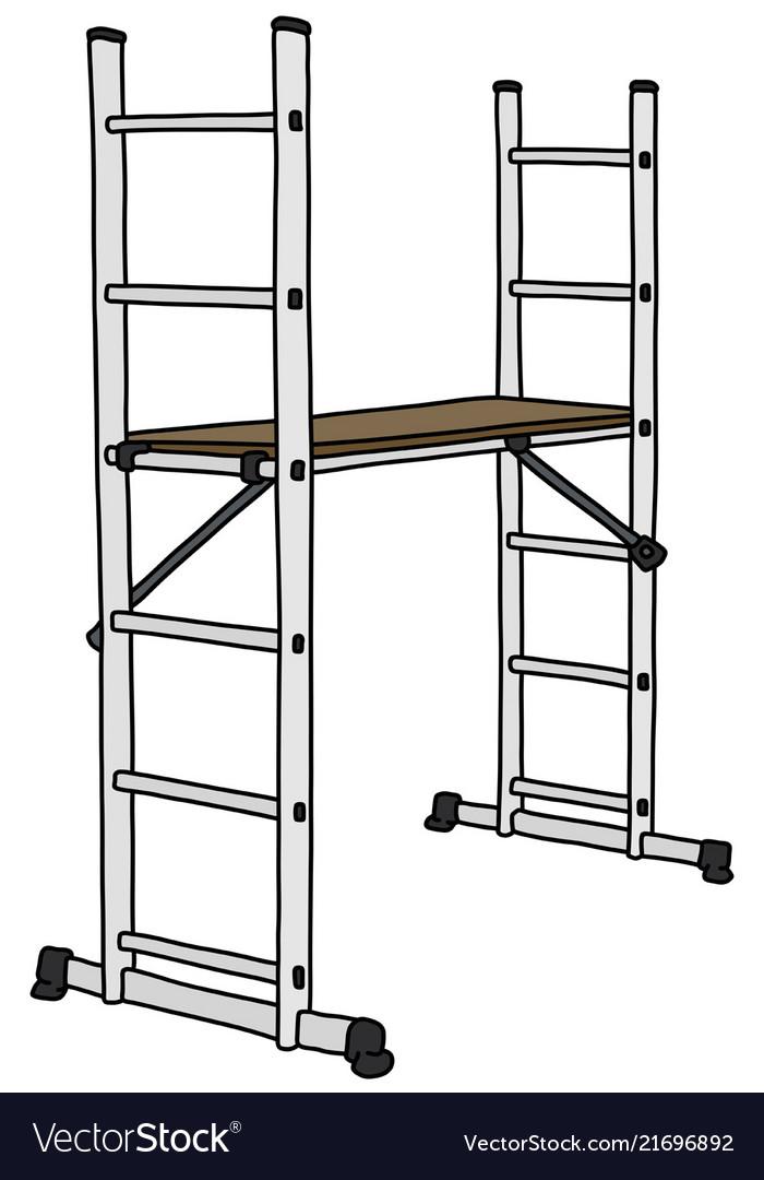 The white small scaffolding