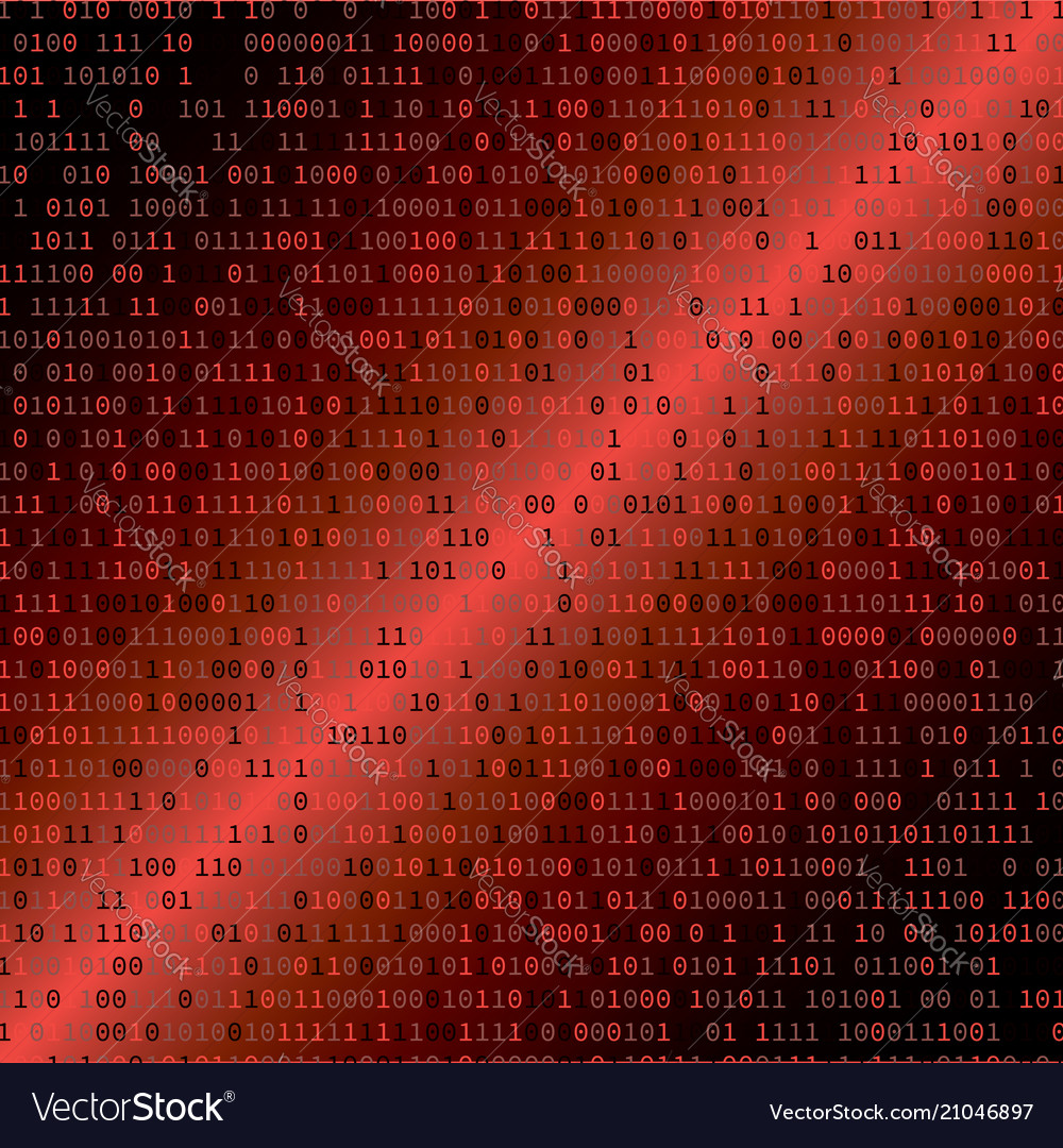 Binary code internet security concept