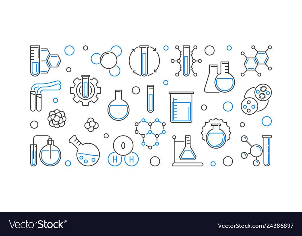 Chemistry education concept horizontal
