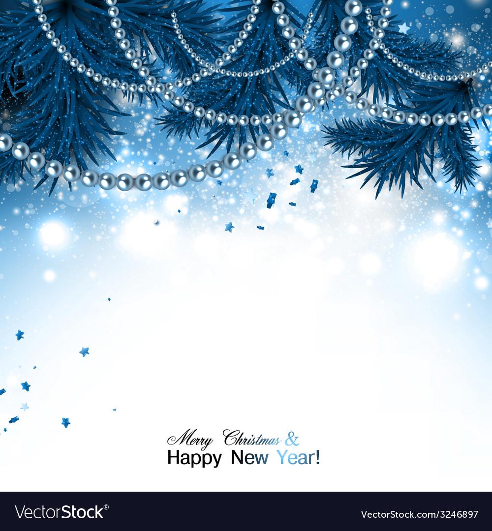 Elegant Christmas Background Images.Elegant Christmas Background With Blue Garland And