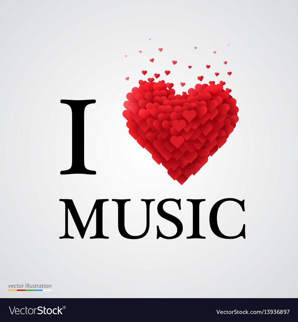 Download I love music heart sign Royalty Free Vector Image