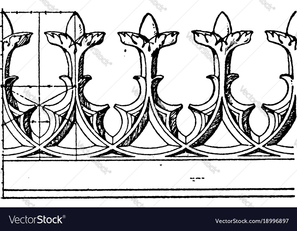 Modern gothic cresting border is made out of