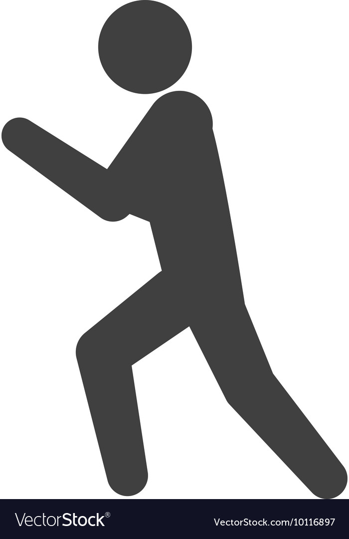 Pictogram action silhouette move icon