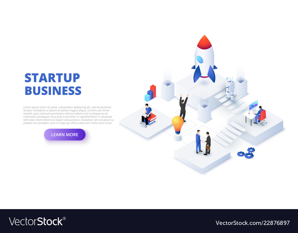 Startup business design concept with people