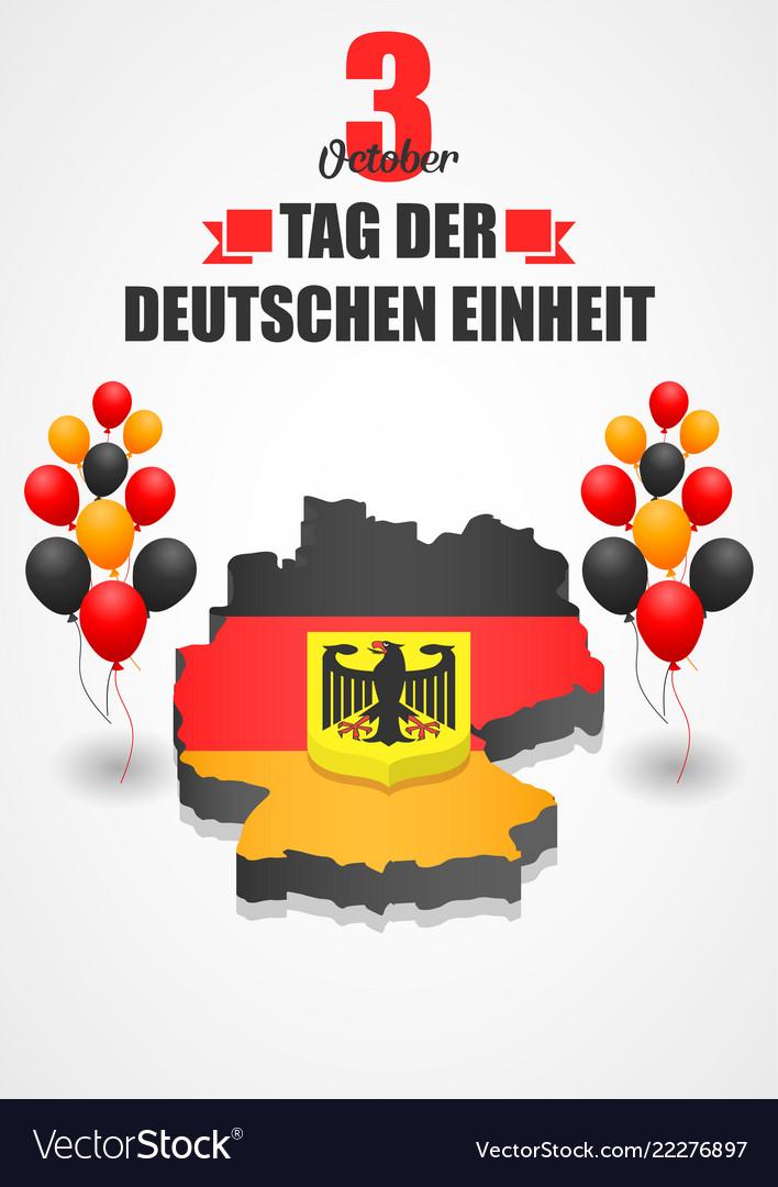 Tag der deutschen einheit concept background