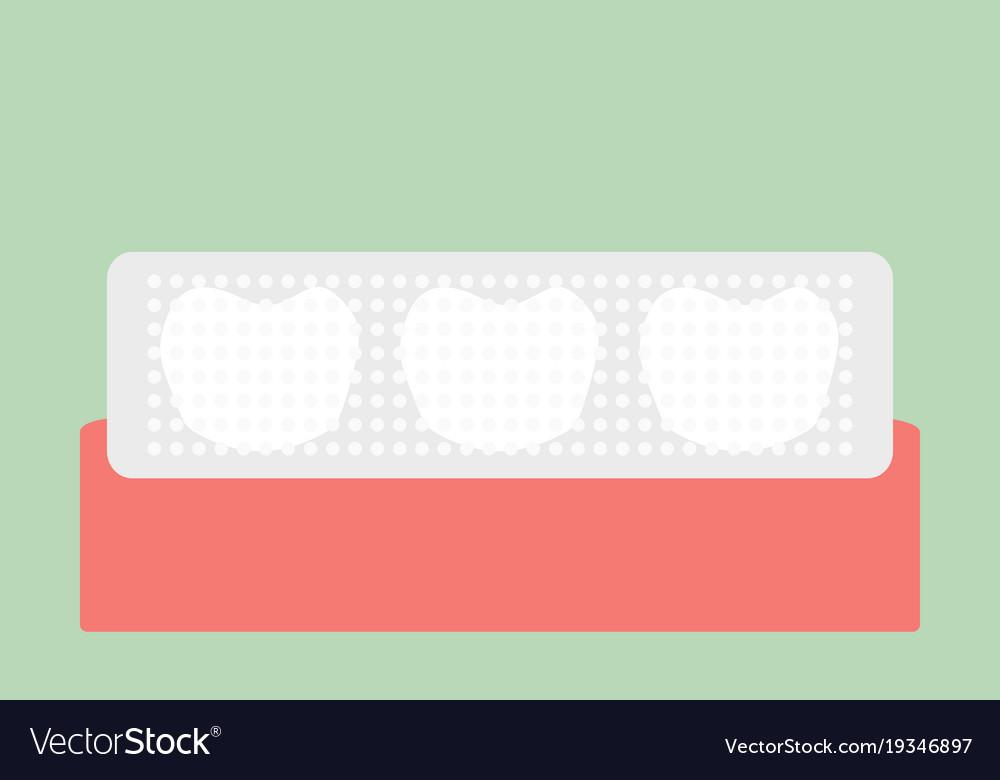 Teeth Whitening Strip Royalty Free Vector Image