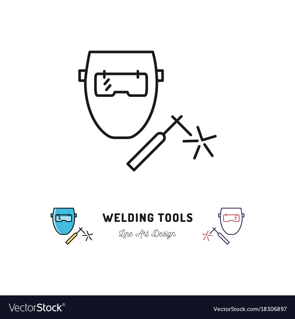 Diagram Of Welding Tools Archive Automotive Wiring Machine Icon And Welder Vector Image Rh Vectorstock Com
