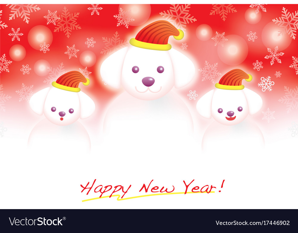 A New Years And Christmas Card Template Royalty Free Vector
