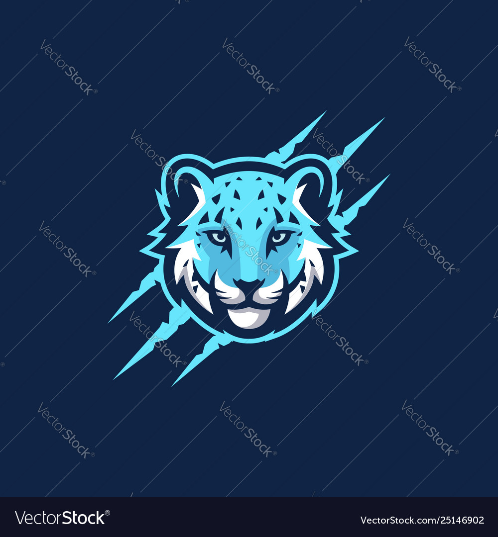 Abstract head tiger template