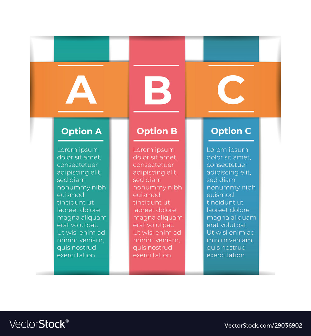 Abstract paper infografics template with 3 options