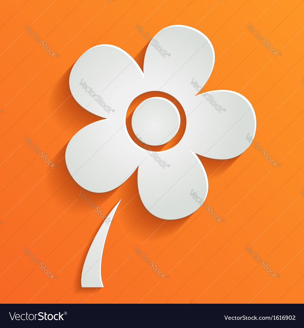 Abstract summer background with white flower