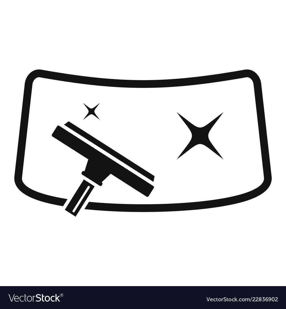 Clean Car Windscreen Icon Simple Style Royalty Free Vector