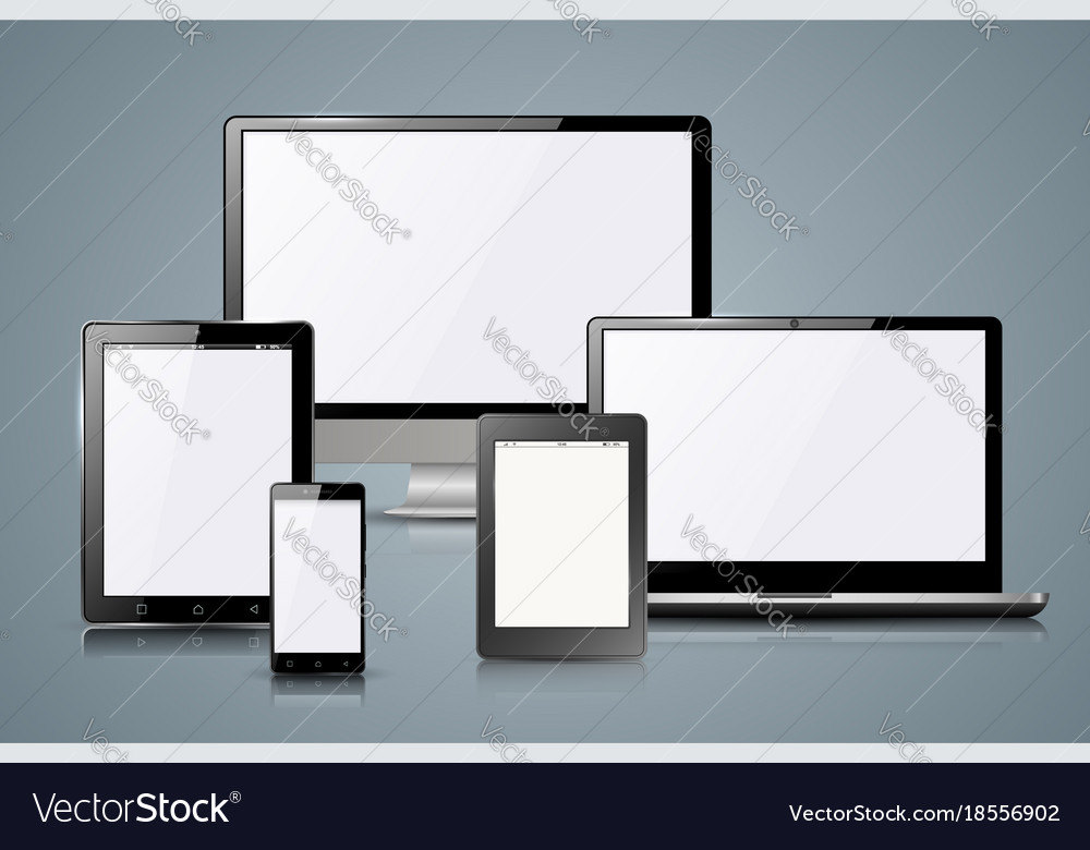 Gadget icon smartphone tablet book reader vector image