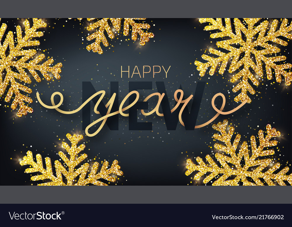 Greeting card invitation with happy new year 2019