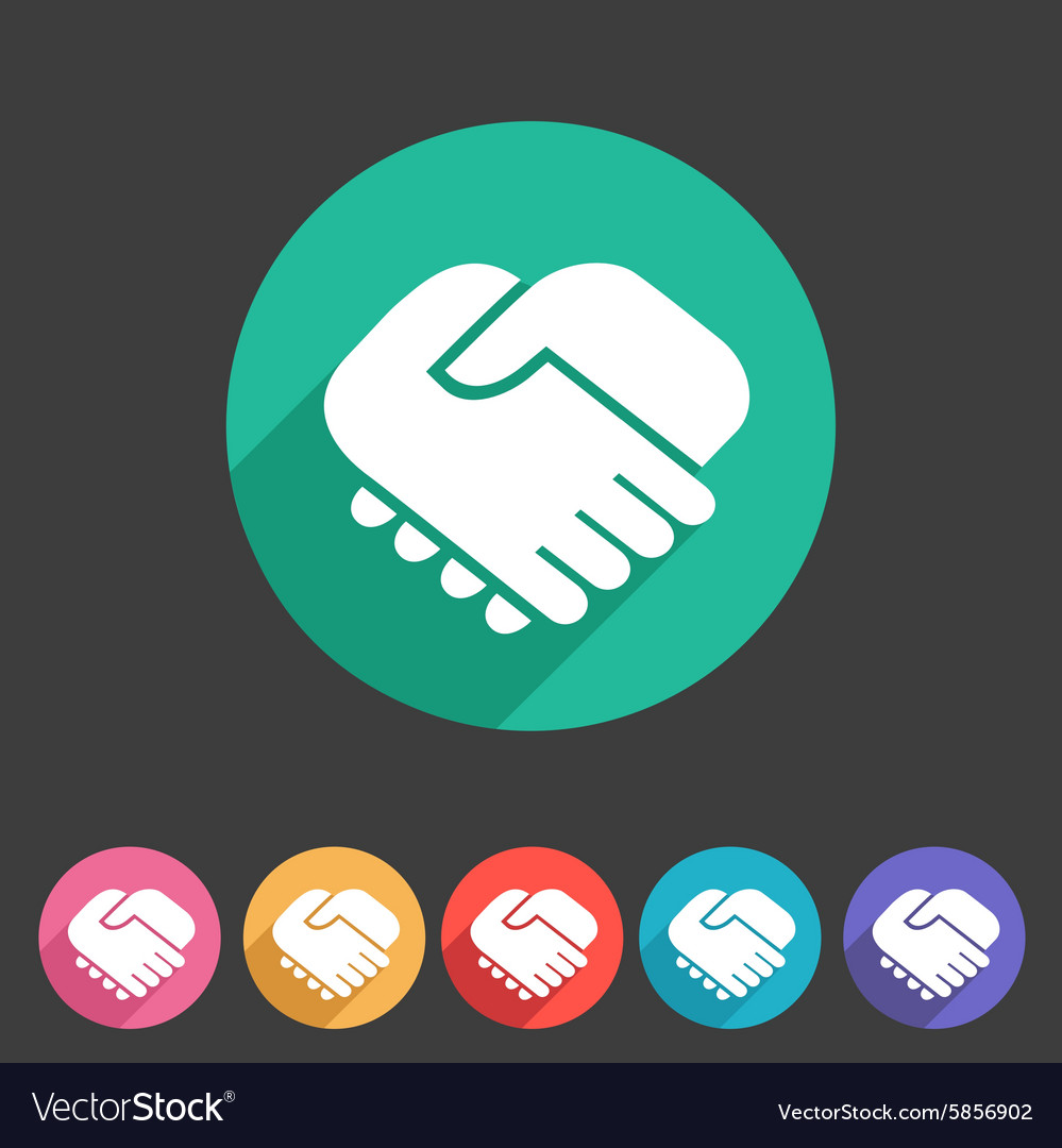Handshake icon flat web sign symbol logo label