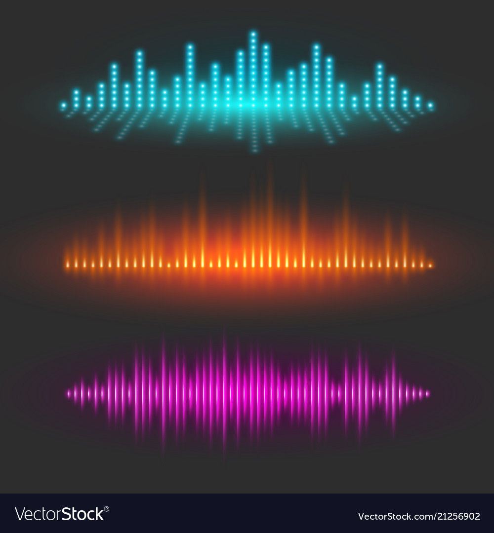 Sound wave graphical depiction abstract waveforms