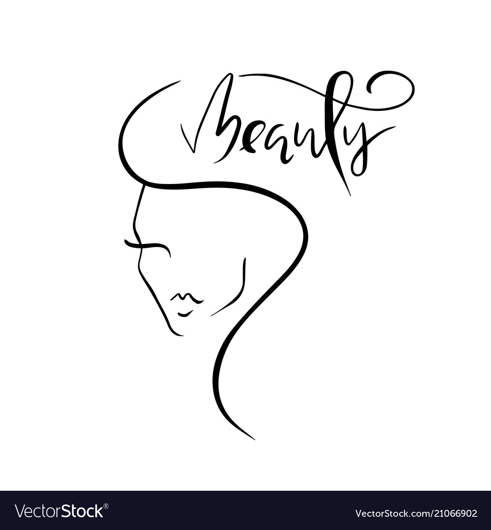 Template logo for beauty products abstract girl