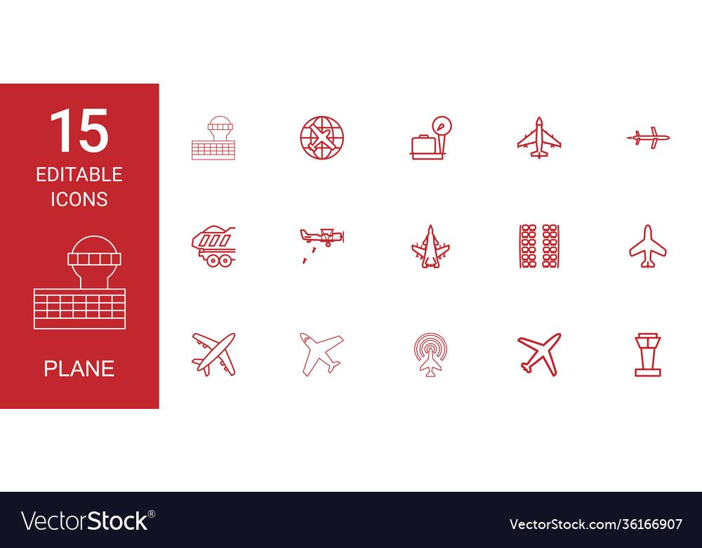15 plane icons