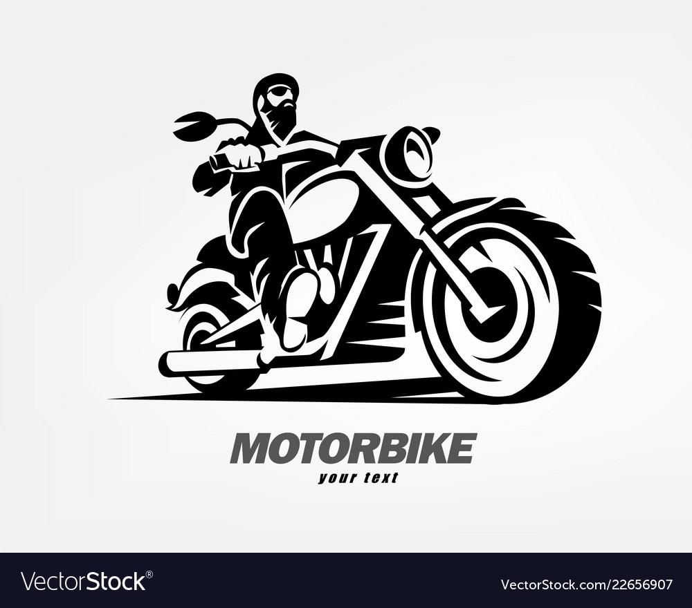 Biker motorcycle grunge silhouette retro emblem