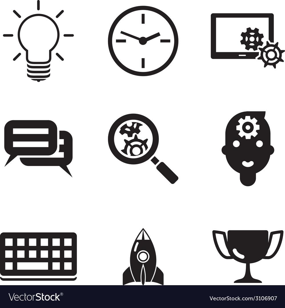 Business SEO social media marketing silhouette vector image