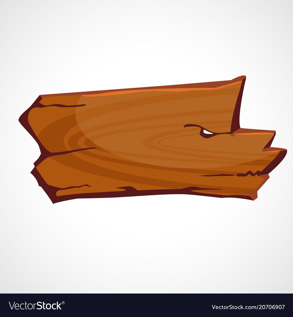 Cartoon brown wooden sign vector image