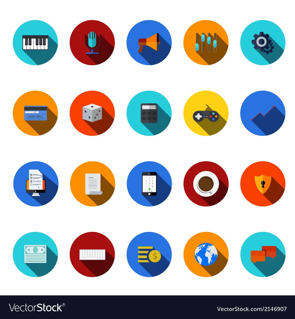 Flat modern icons set