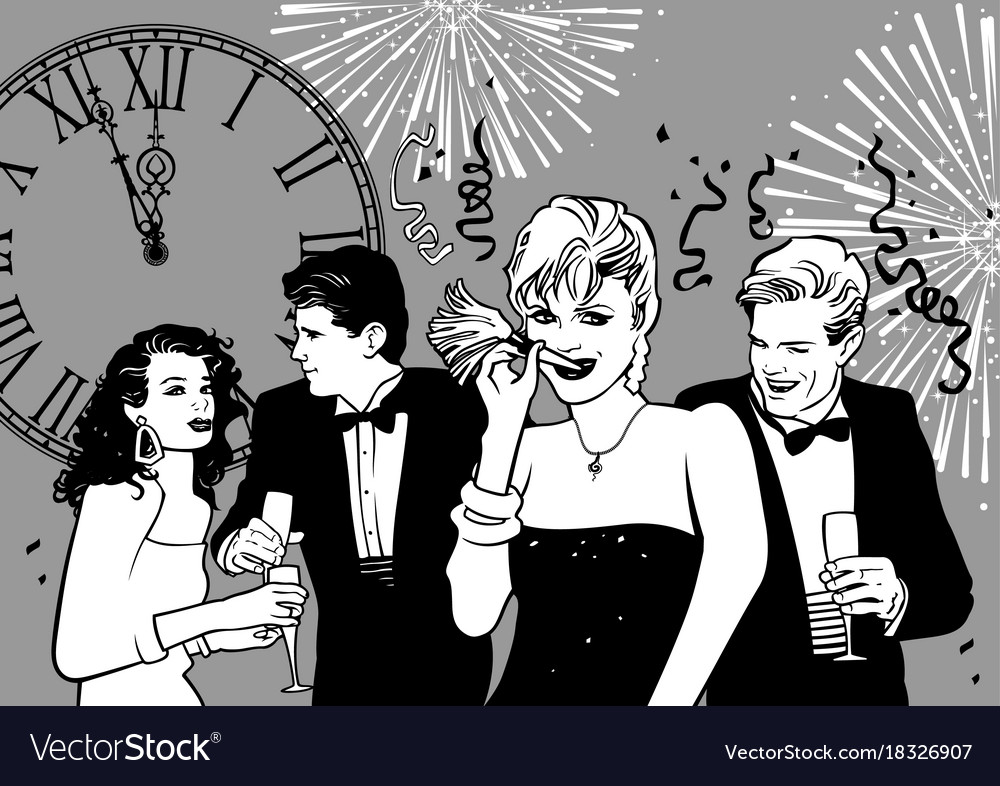 Happy new year party vector image