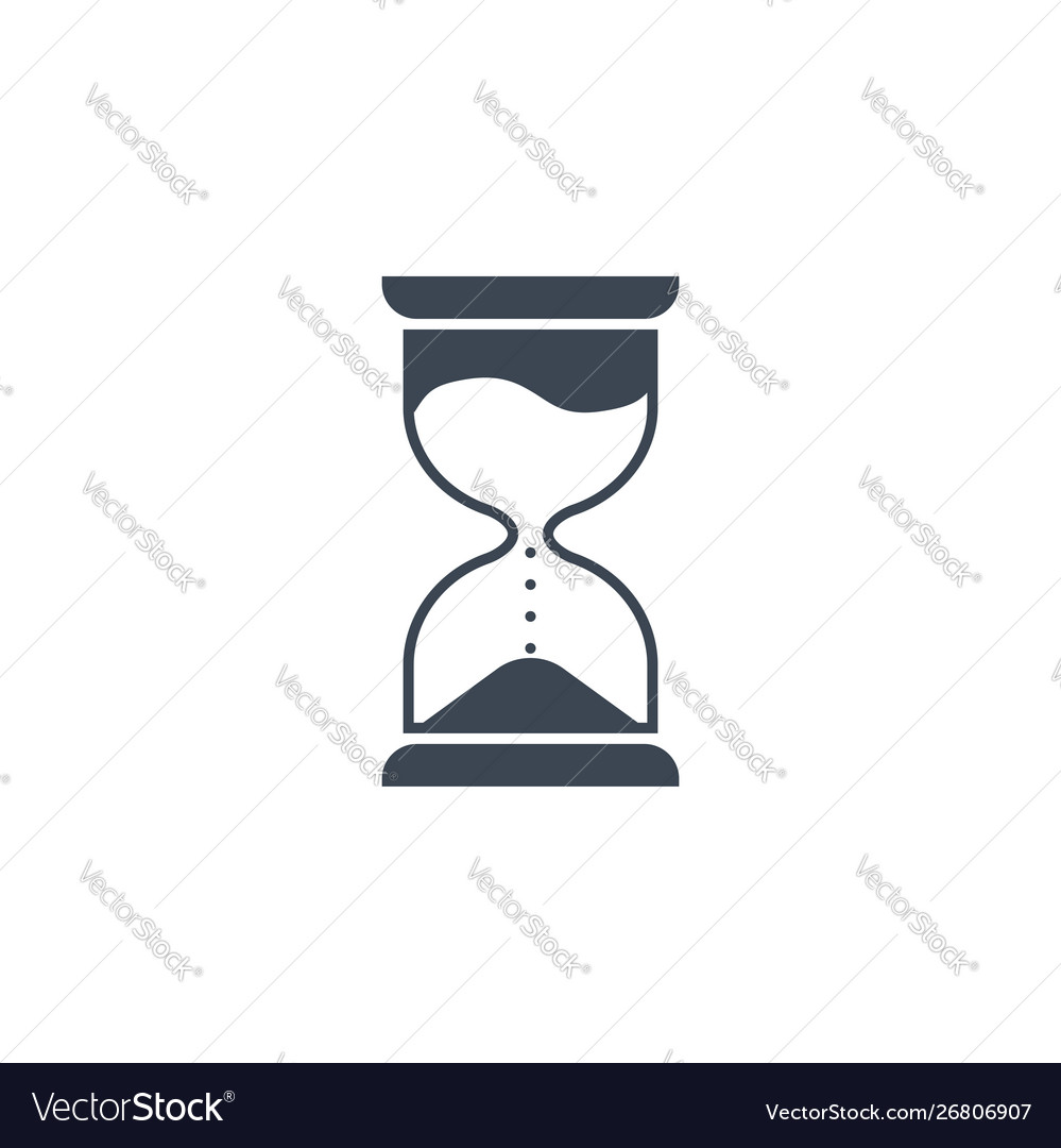 Hourglass related glyph icon