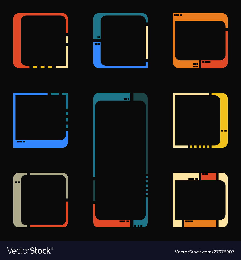 Retro futuristic interface elements