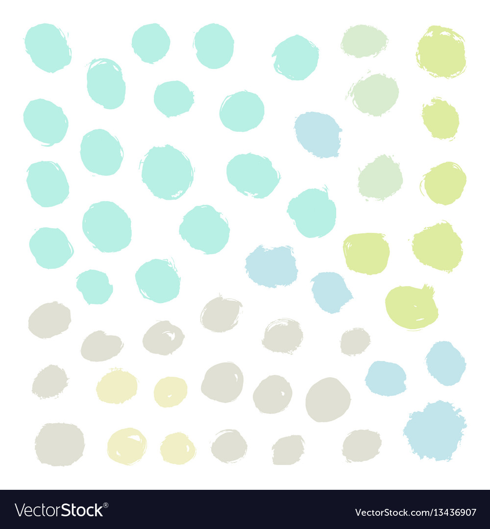 Set of grunge paint rounds vector image