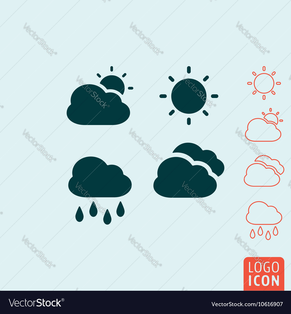 Weather icon isolated