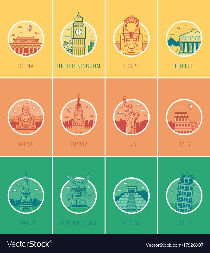 World landmarks travel and tourism landmarks