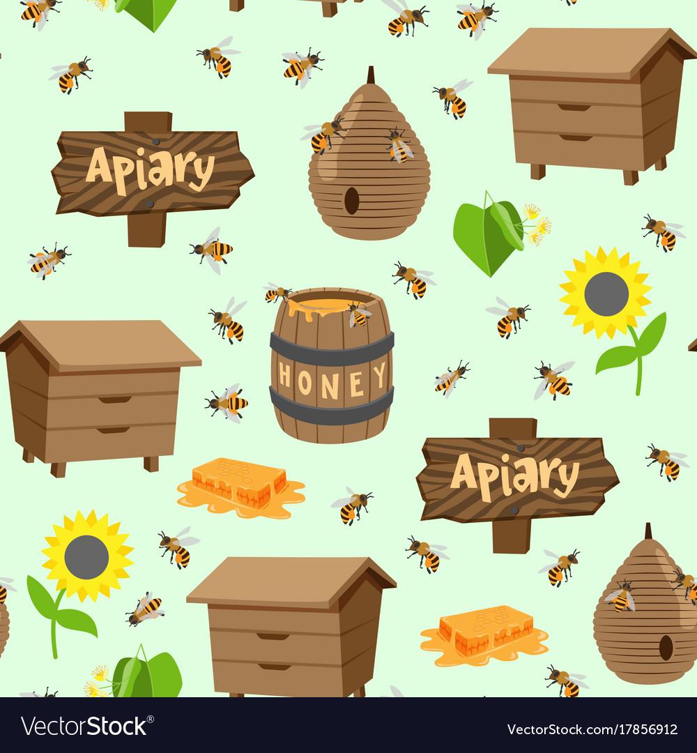 Apiary beekeeping honey jar