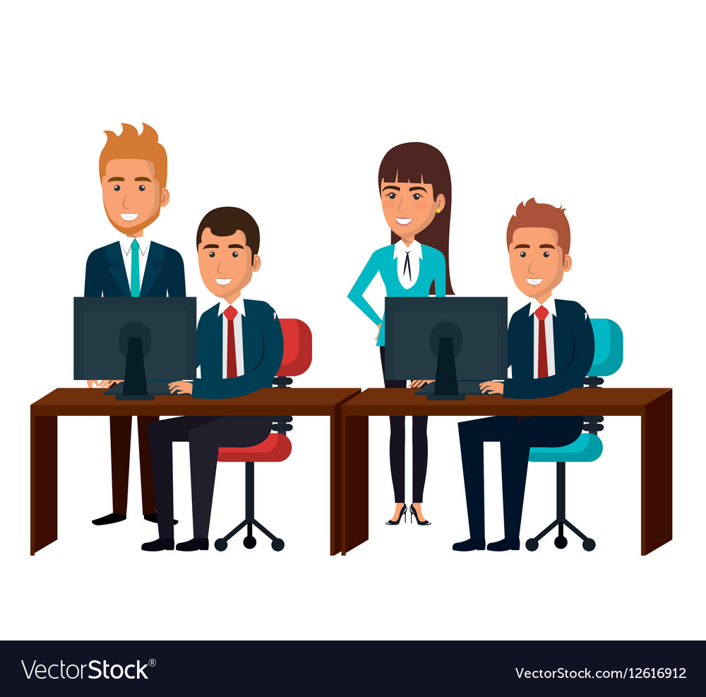 bussiness people working icon royalty free vector image