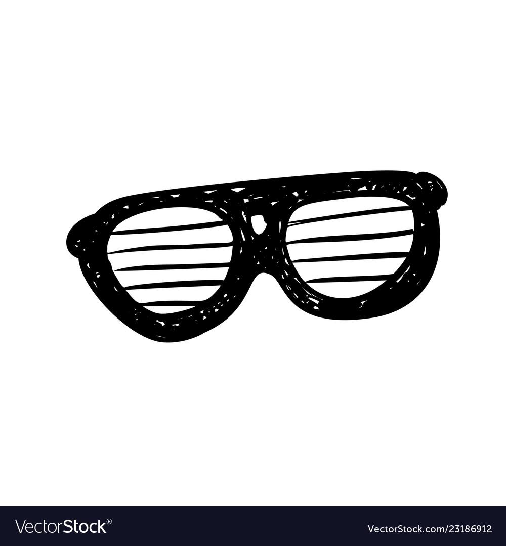 Glasses sunglasses hand drawn