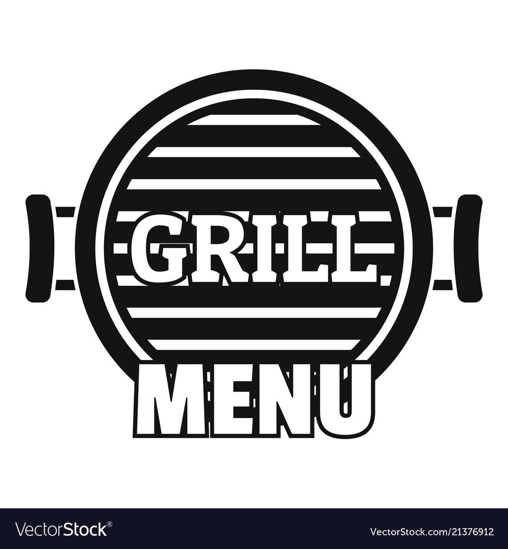 Grill menu logo simple style
