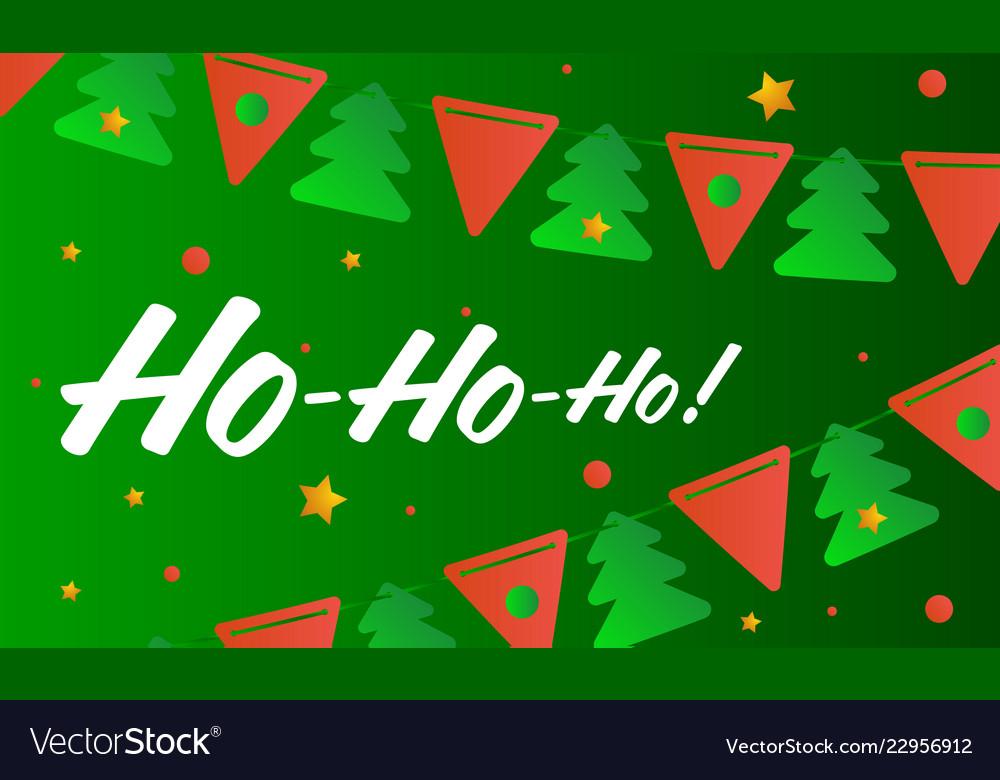 Ho ho ho merry christmas Royalty Free Vector Image