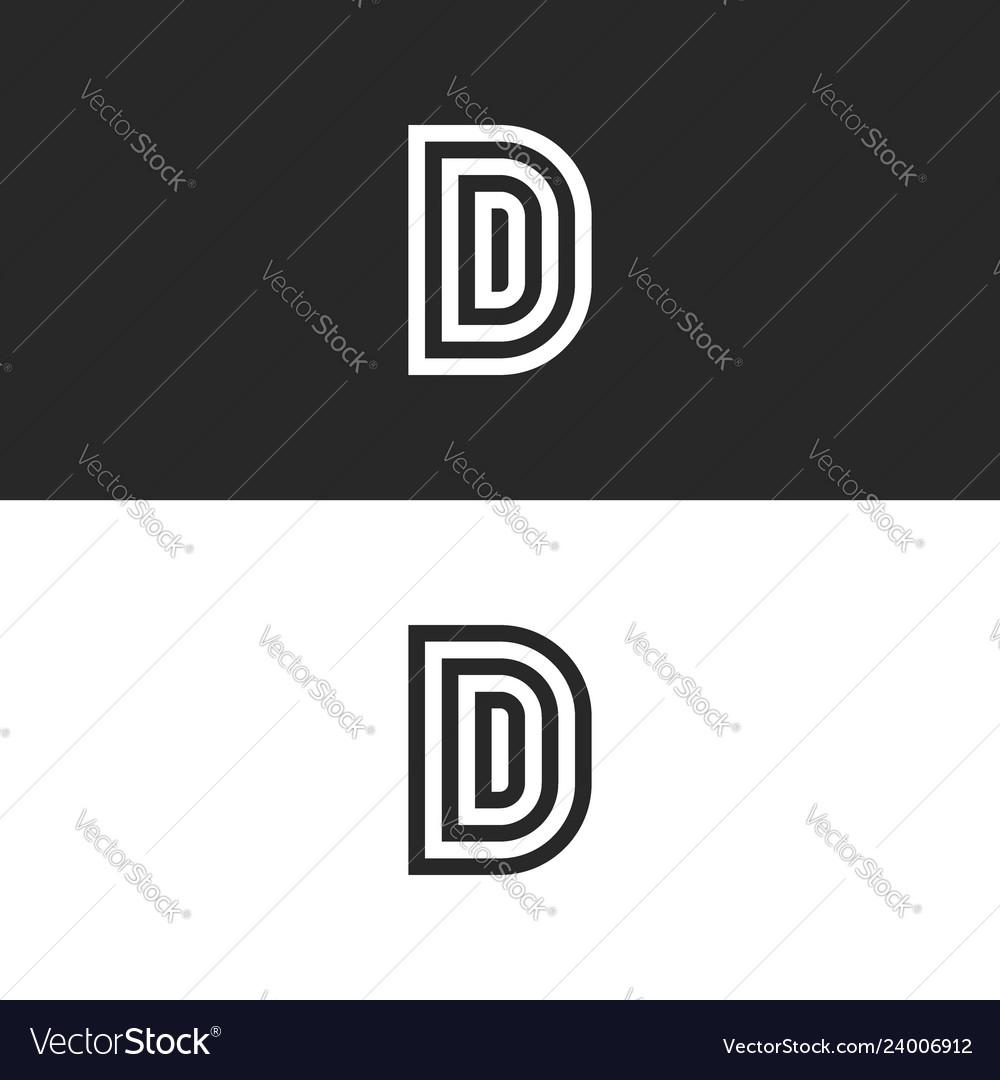 Initials ddd letters monogram or d logo design