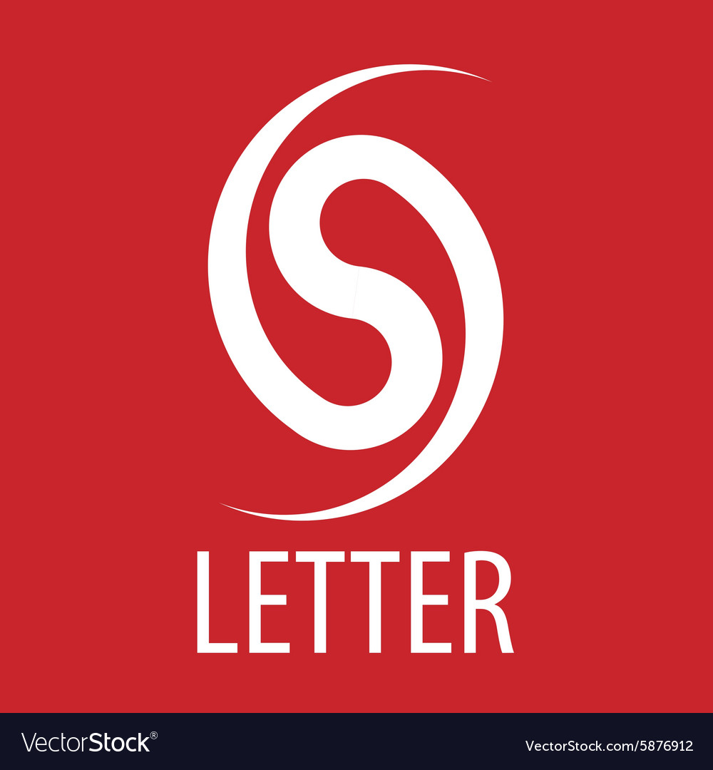 Logo spun letter S on a red background