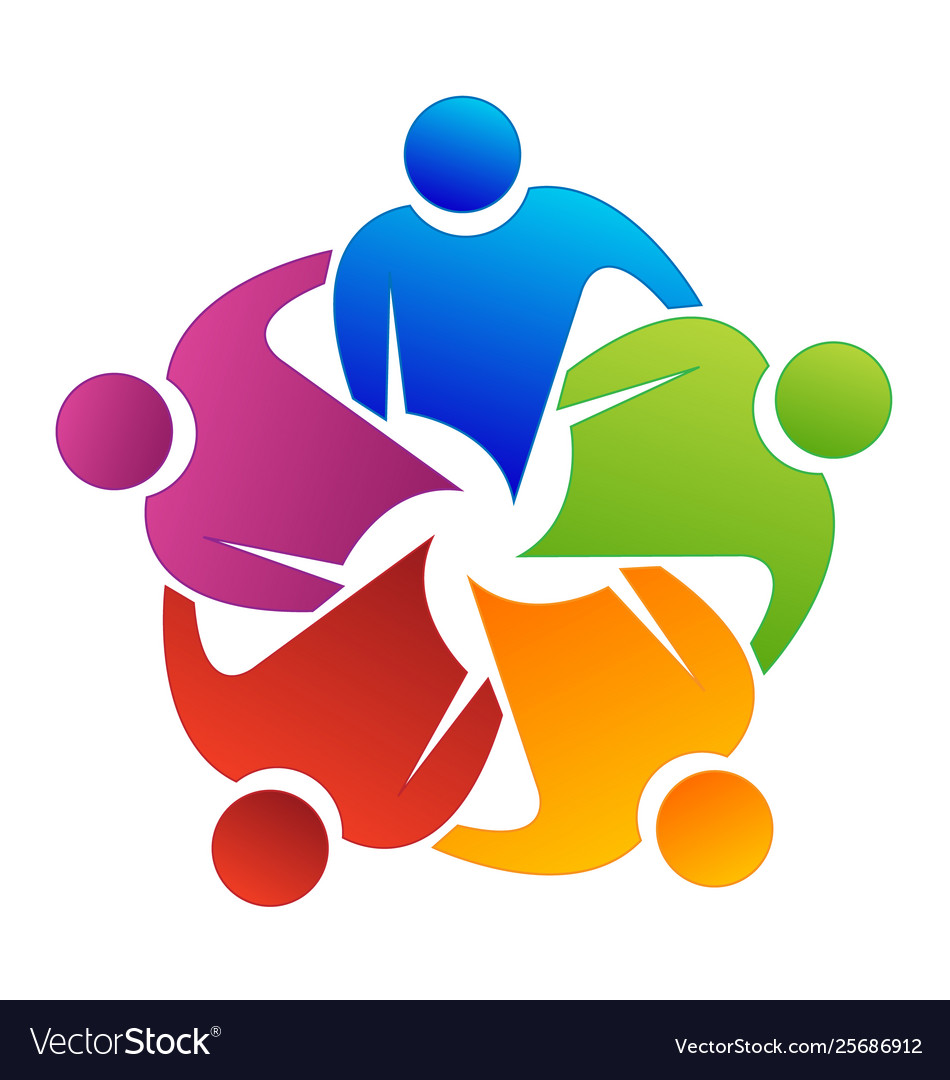 Logo teamwork reunion partner people business